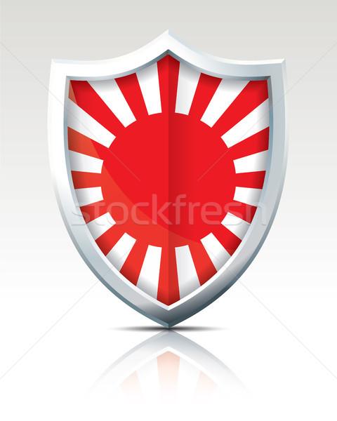 Pajzs zászló japán háború világ háttér Stock fotó © ojal