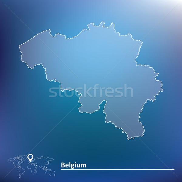 Map of Belgium Stock photo © ojal