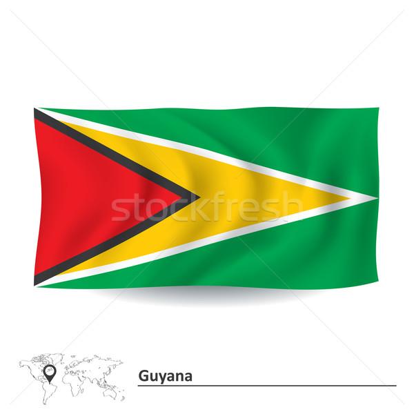 Zászló Guyana textúra terv háttér felirat Stock fotó © ojal