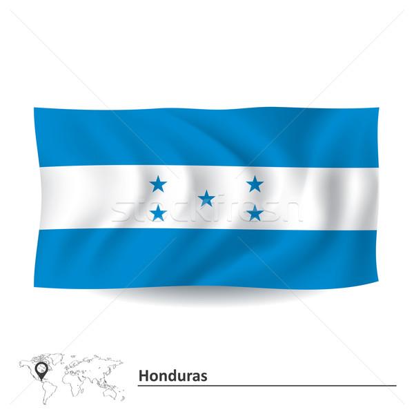 Bandeira Honduras mapa projeto azul preto Foto stock © ojal