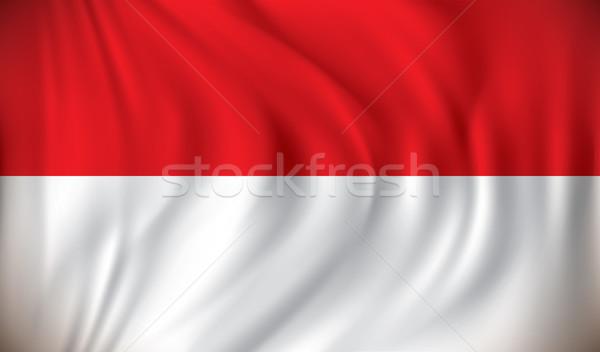 Bandiera Indonesia viaggio silhouette grafico profilo Foto d'archivio © ojal