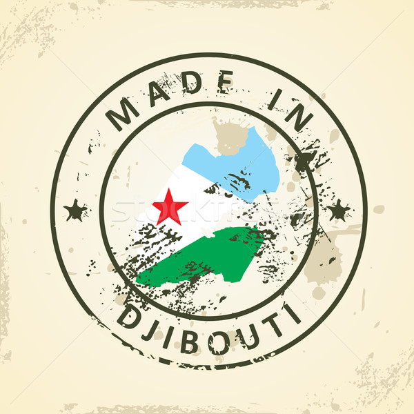 штампа карта флаг Джибути Гранж аннотация Сток-фото © ojal