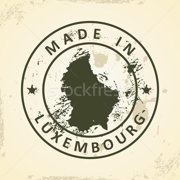 Stempel kaart Luxemburg grunge abstract wereld Stockfoto © ojal