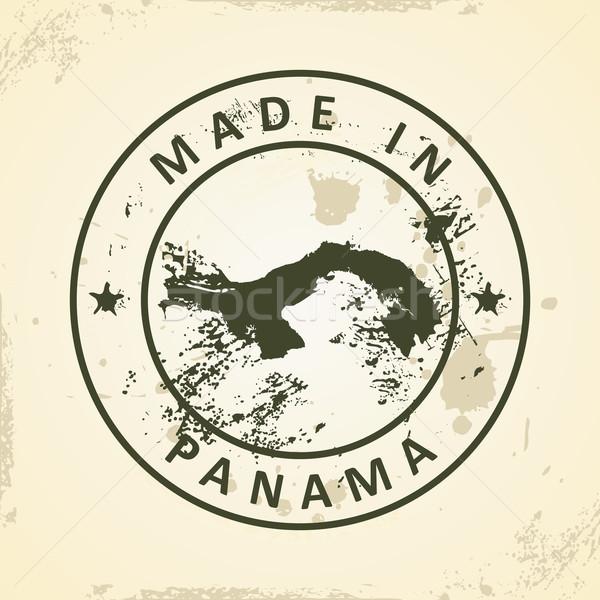 Damga harita Panama grunge doku dizayn Stok fotoğraf © ojal