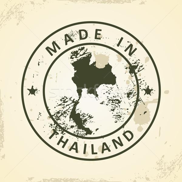 Timbro mappa Thailandia grunge abstract mondo Foto d'archivio © ojal