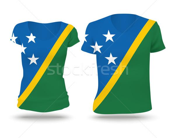Flag shirt design of Solomon Islands Stock photo © ojal