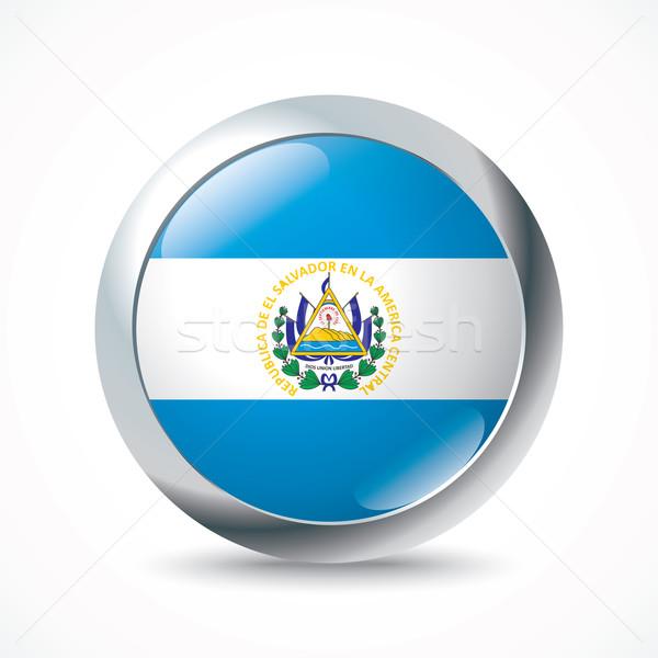 El Salvador vlag knop textuur ontwerp kunst Stockfoto © ojal