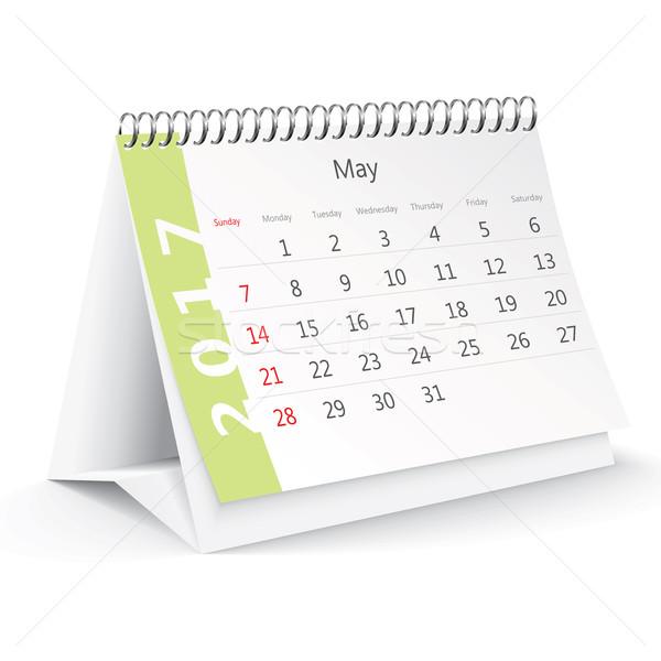May 2017 desk calendar - vector Stock photo © ojal