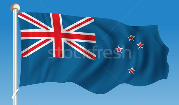 Vlag New Zealand textuur reizen star zwarte Stockfoto © ojal