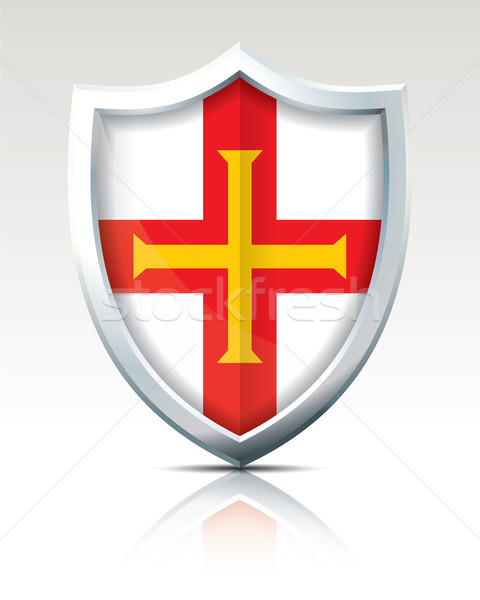 Shield with Flag of Guernsey Stock photo © ojal