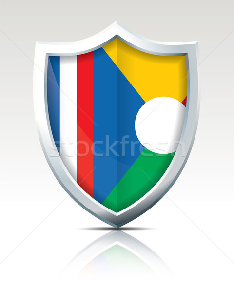Shield with Flag of Reunion Stock photo © ojal