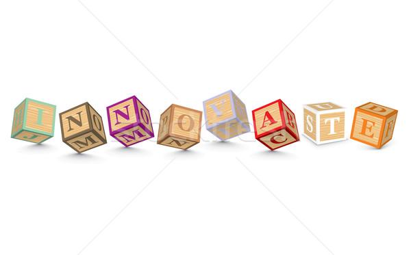 Word INNOVATE written with alphabet blocks Stock photo © ojal
