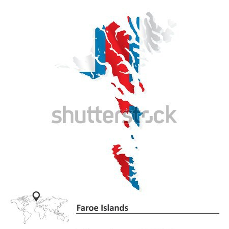 Map of Chile with flag Stock photo © ojal
