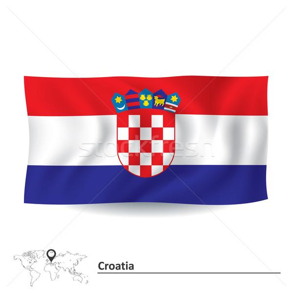 Pavillon Croatie carte résumé design art Photo stock © ojal
