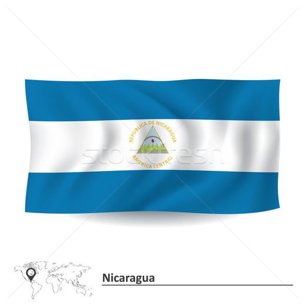 Flag of Nicaragua Stock photo © ojal