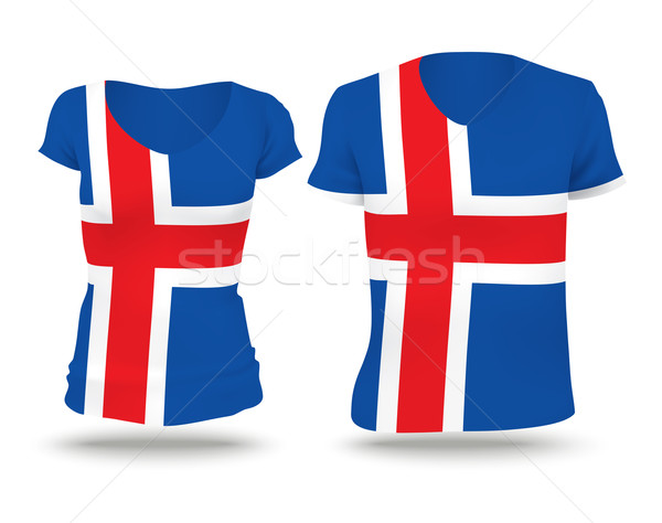 Flag shirt design of Iceland Stock photo © ojal