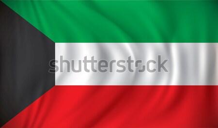 Bandera Kuwait textura arte signo viaje Foto stock © ojal