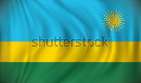 флаг Руанда текстуры карта звездой Африка Сток-фото © ojal