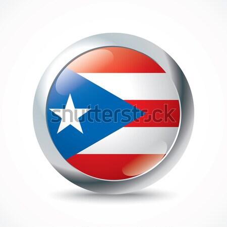 Puerto Rico flag button Stock photo © ojal