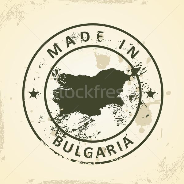 Pieczęć Pokaż Bułgaria grunge projektu zielone Zdjęcia stock © ojal