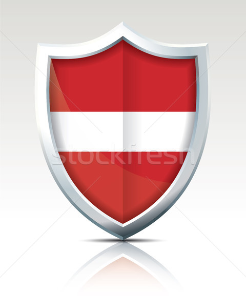 Shield with Flag of Latvia Stock photo © ojal
