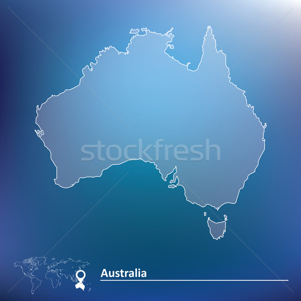 карта Австралия Мир фон знак звездой Сток-фото © ojal