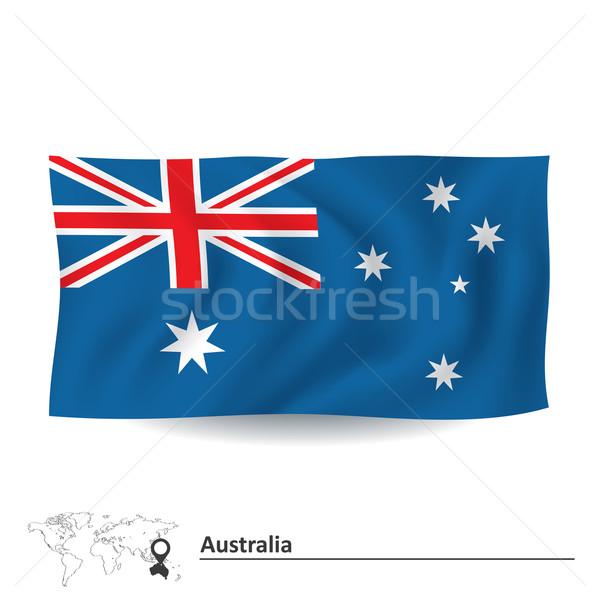 флаг Австралия карта Мир фон знак Сток-фото © ojal