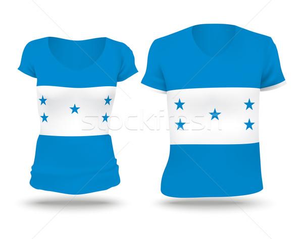 флаг рубашку дизайна Гондурас женщину человека Сток-фото © ojal