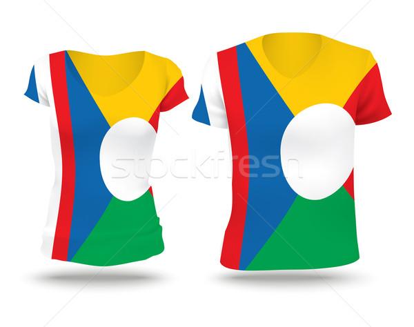 Foto stock: Bandeira · camisas · projeto · reunião · mulher · homem