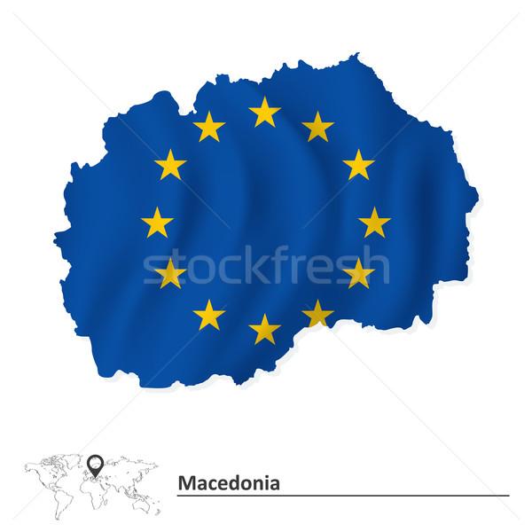 карта Македонии европейский Союза флаг Мир Сток-фото © ojal