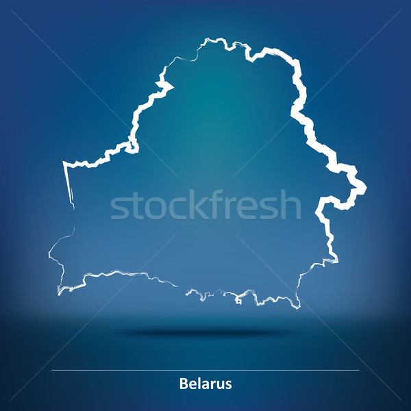 Doodle Map of Belarus Stock photo © ojal