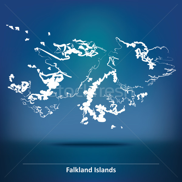 Doodle Map of Falkland Islands Stock photo © ojal