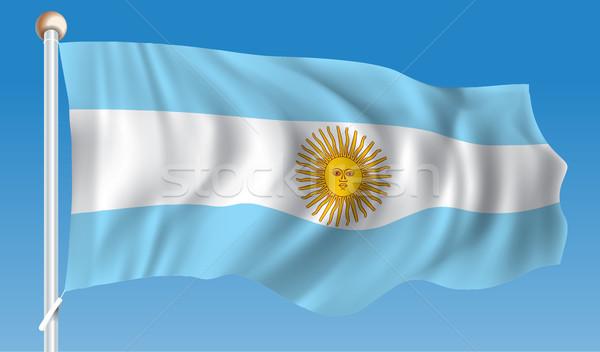 Pavillon Argentine texture carte résumé lumière Photo stock © ojal