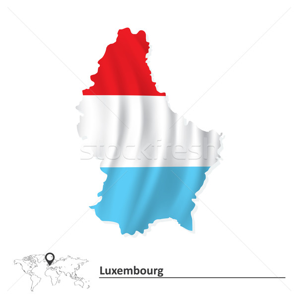 Map of Luxembourg with flag Stock photo © ojal
