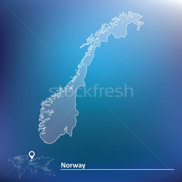 地図 ノルウェー 抽象的な 世界 赤 シルエット ストックフォト © ojal