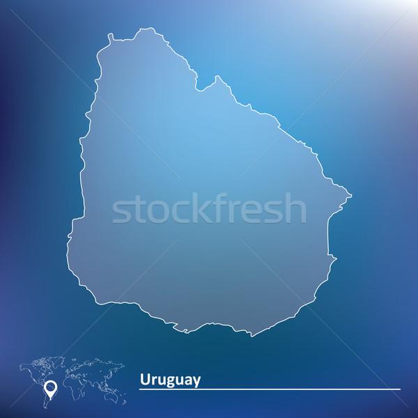 地図 ウルグアイ テクスチャ 市 背景 旅行 ストックフォト © ojal