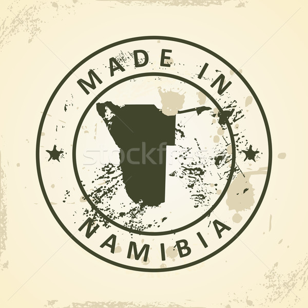 Stamp with map of Namibia Stock photo © ojal
