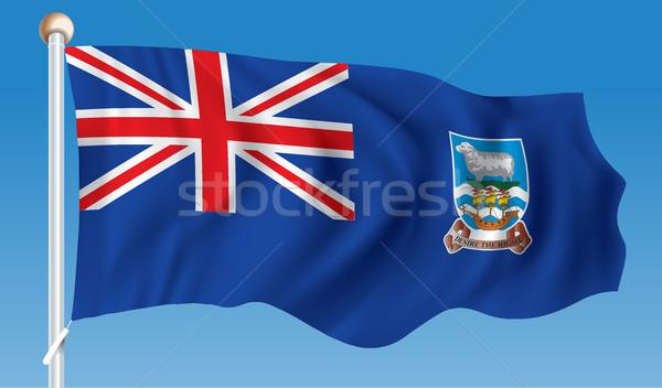Zászló Falkland-szigetek terv világ felirat utazás Stock fotó © ojal
