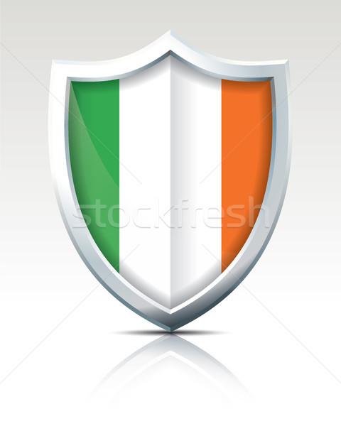 Escudo bandeira Irlanda mundo fundo terra Foto stock © ojal