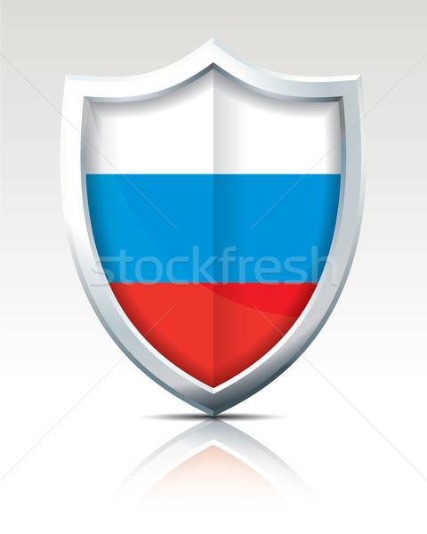 Escudo bandeira Rússia mar projeto viajar Foto stock © ojal
