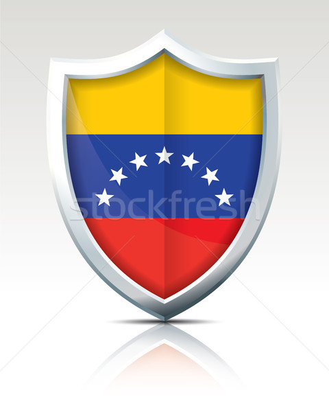 Shield with Flag of Venezuela Stock photo © ojal