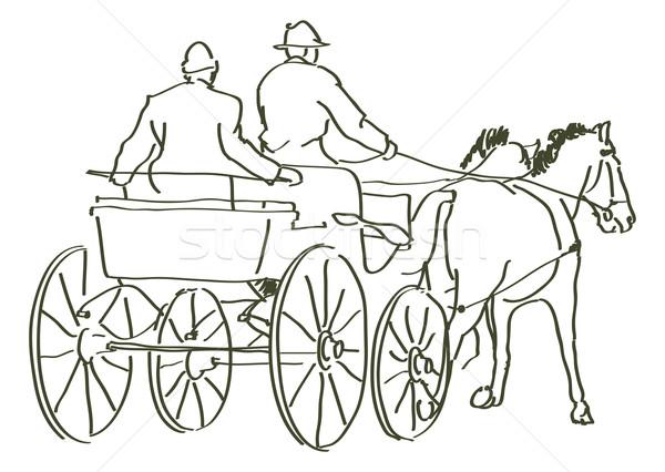 hand drawn horses Stock photo © ojal