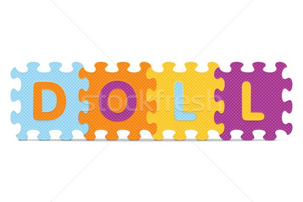 Vektor baba írott ábécé puzzle szeretet Stock fotó © ojal