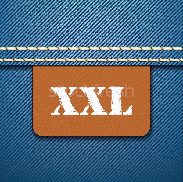 Xxl boyut giyim etiket vektör moda Stok fotoğraf © ojal