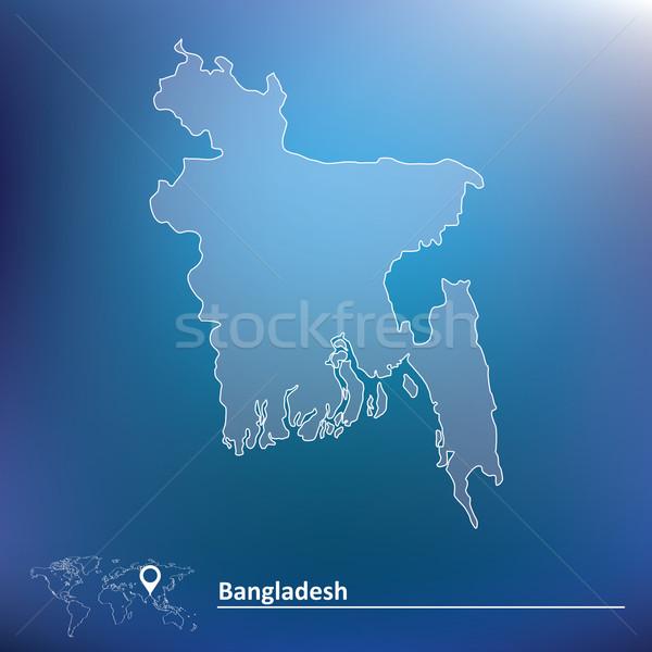 Mapa Bangladesh negócio abstrato mundo fundo Foto stock © ojal