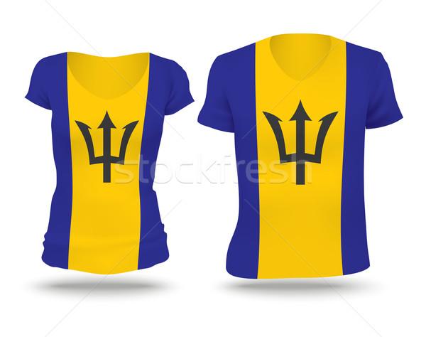 Bandiera shirt design Barbados uomo donne Foto d'archivio © ojal