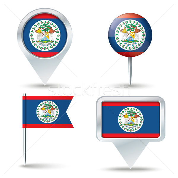 Térkép zászló Belize üzlet út fehér Stock fotó © ojal