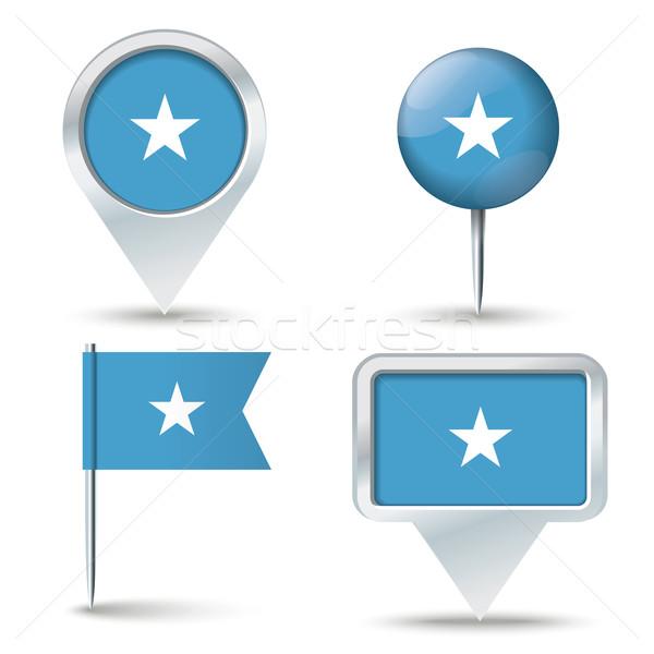 Pokaż banderą Somali działalności drogowego biały Zdjęcia stock © ojal