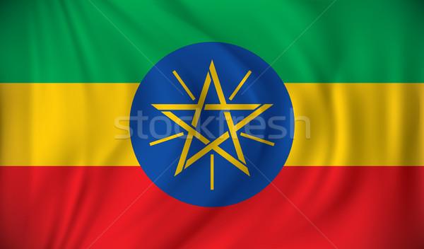Vlag Ethiopië wereld kunst groene reizen Stockfoto © ojal