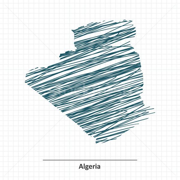 болван эскиз Алжир карта Мир кадр Сток-фото © ojal